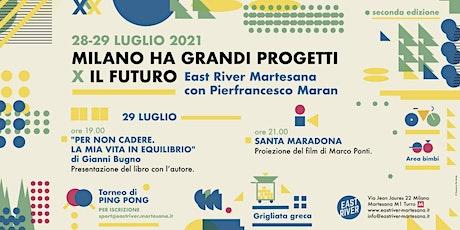 Milano ha grandi progetti x il futuro - East River giovedì 29 luglio biglietti