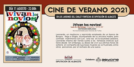 CINE DE VERANO Jardines Fontecha | ¡Vivan los novios! | Miércoles 11 agosto entradas