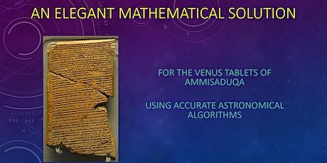 The Venus Tablets of Ammisaduqa – a solution tickets