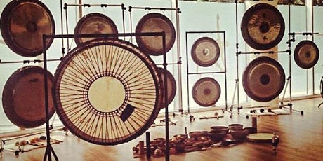 """Relaxing GONG BATH with 2 Gong Master Teachers -14Gongs+45""""Shamanic Drum tickets"""