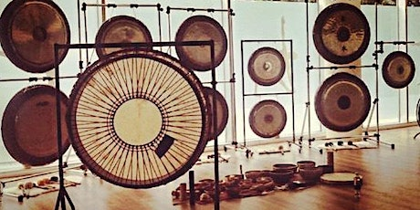 """Relaxing GONG BATH with 2 Gong Master Teachers 14Gongs&45""""Shamanic Drum tickets"""