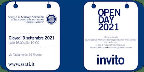 Open Day SSATI: presentazione del XXXVI° Corso in Gestione d'Impresa biglietti