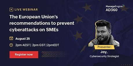 The European Union's recommendations to prevent cyberattacks on SMEs tickets