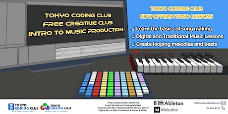 Free Creative Club Intro to Music Production. Ages 7-18 tickets