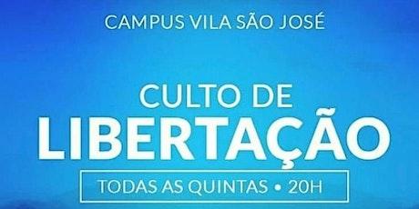 INSCRIÇÃO CULTO CURA E  LIBERTAÇÃO - 20H00 ÀS 21H30 ingressos