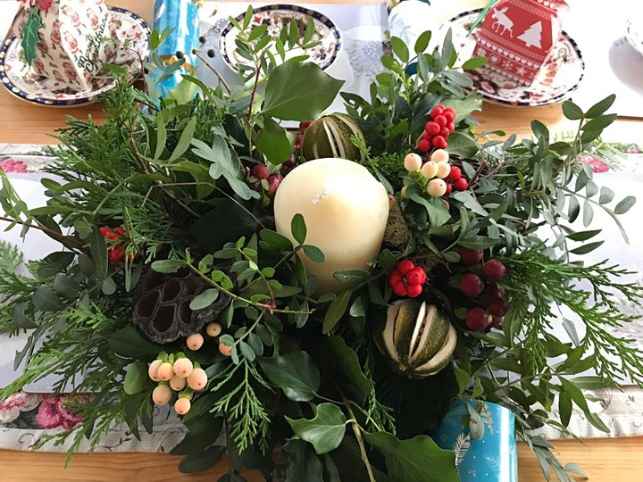 Christmas Table Centrepiece Workshop at Lumby Garden Centre image
