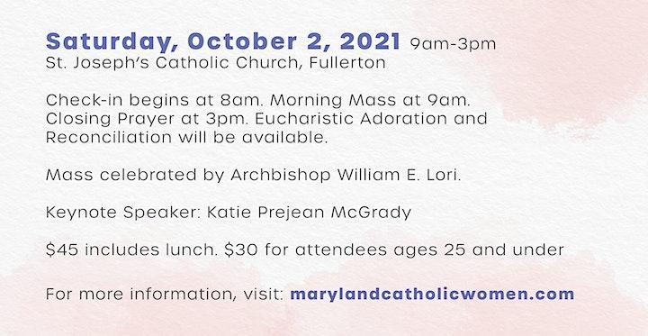 Maryland Catholic Women's Conference 2021, Holy and Beloved image