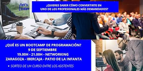 Llega el nuevo bootcamp de programación en Zaragoza entradas