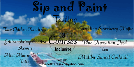 Sip and Paint Tasting (ALL INCLUSIVE) tickets