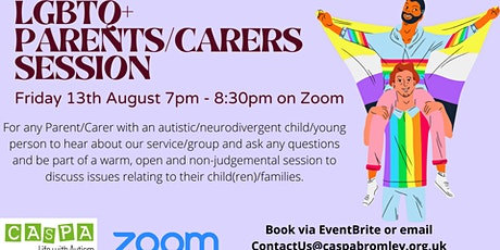 LGBTQ+ Parents/Carers Session - Zoom tickets