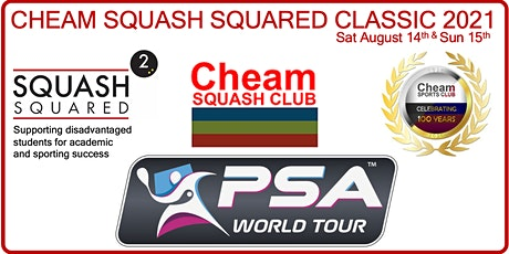 Cheam Squash Squared Classic - Final 8 - Evening Session 17:30 Kick Off tickets