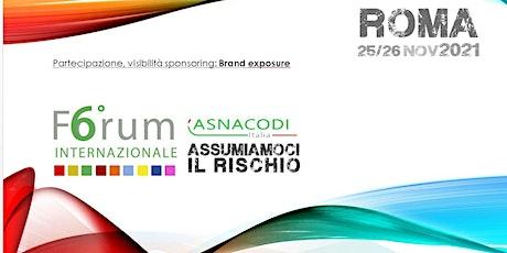 6° Forum Internazione Asnacodi Italia biglietti