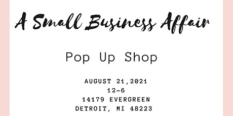 Small Business Affair Pop Up Shop tickets