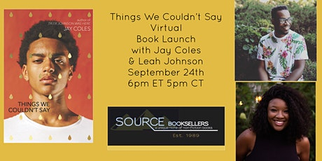 THINGS WE COULDN'T SAY Book Launch Event tickets