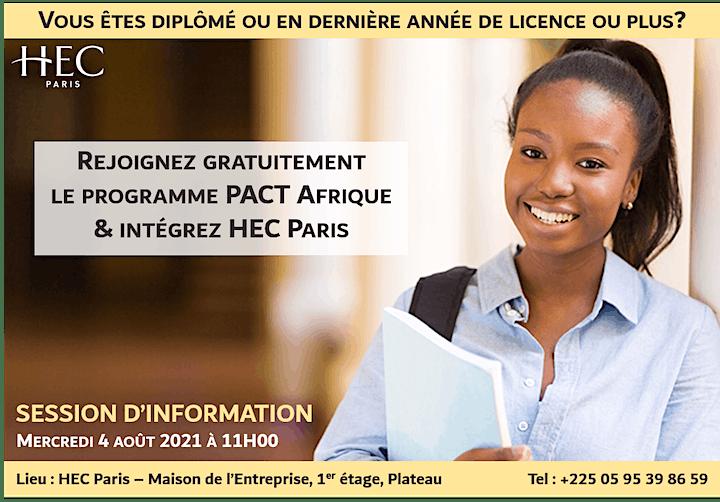 Image pour Session d'information PACT Afrique