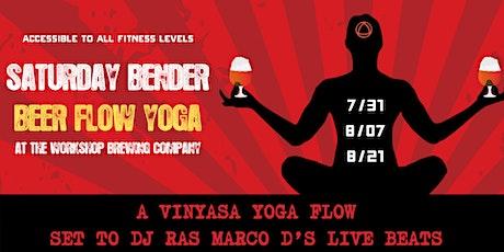 Beer Flow Yoga Class featuring DJ Ras Marco D tickets