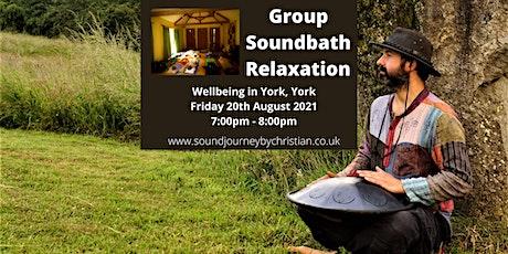 Soundbath Relaxation Experience: Himalayan Singing Bowls and Hand Pan tickets