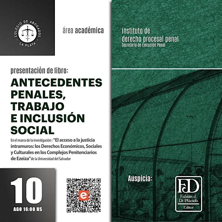 Imagen de Presentación libro: Antecedentes penales, trabajo e inclusión social