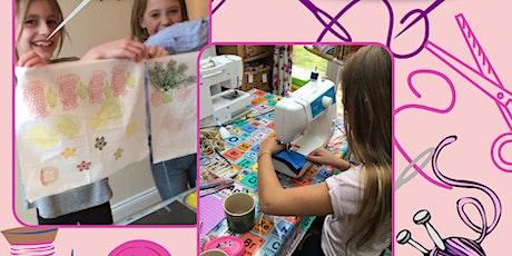Kids Club at Stitching Kitchen, textile arts and crafts tickets