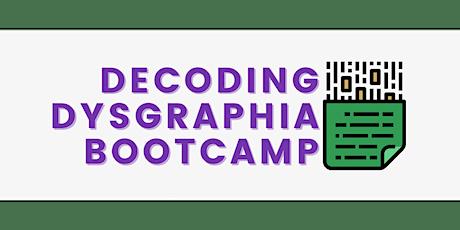Decoding Dysgraphia Bootcamp ingressos