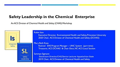 Safety Leadership in the Chemistry Enterprise tickets