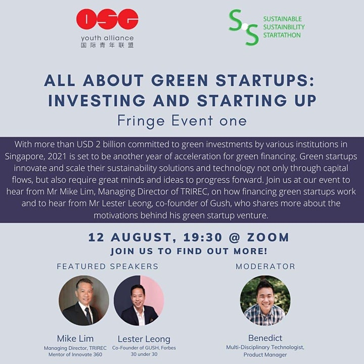 SSS 2021: All About Green Startups: Investing and Starting Up image