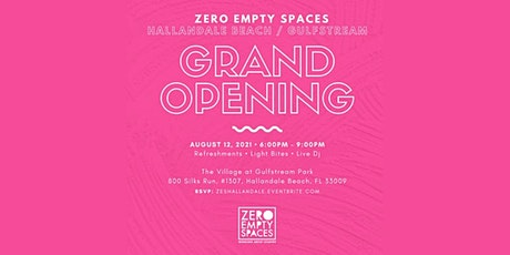 Zero Empty Spaces (Hallandale Beach / Gulfstream Park) Grand Opening tickets