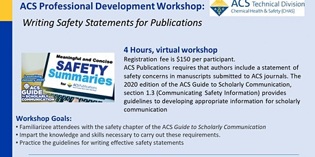 Writing Safety Statements in Publications tickets
