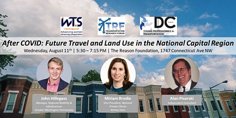 After COVID: Future Travel and Land Use in the National Capital Region tickets