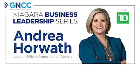 Niagara Business Leadership Series with Andrea Horwath tickets