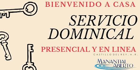Servicio Dominical 1 AGOSTO boletos