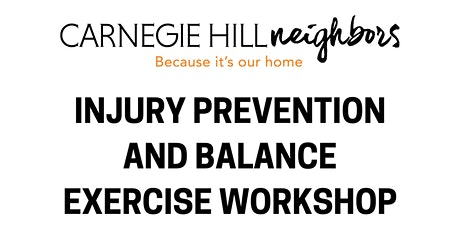 Injury Prevention and Balance Exercise Workshop tickets