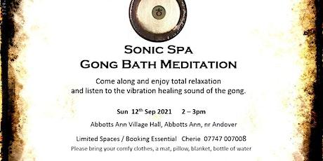 Sonic Spa Gong Bath Meditation - 12th September 2021 (Abbotts Ann Hall) tickets