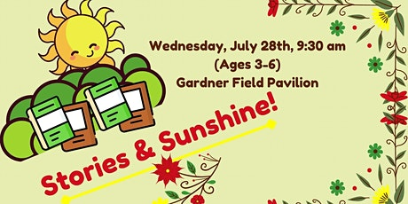Wednesday Morning Stories + Sunshine, Ages 3-6, July 28th tickets