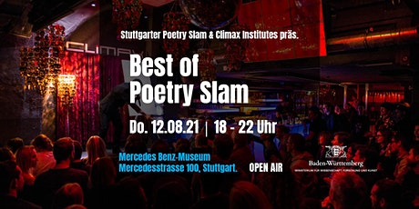 Stuttgarter Poetry Slam & Climax Inst. präs. Best of Poetry Slam • Open Air billets