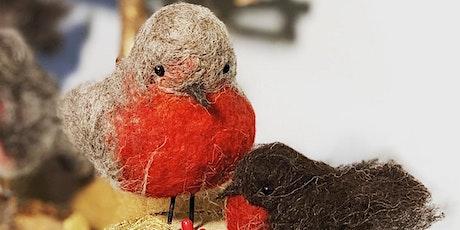 Creative Class - Needlefelt a Robin - Christmas gift or tree decoration tickets
