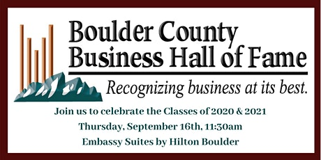 Boulder County Business Hall of Fame Induction Celebration tickets