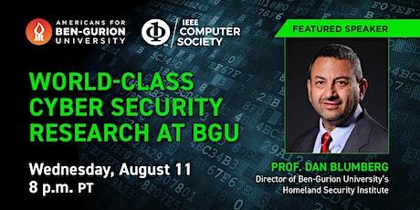World -class Cyber Security Research at BGU tickets