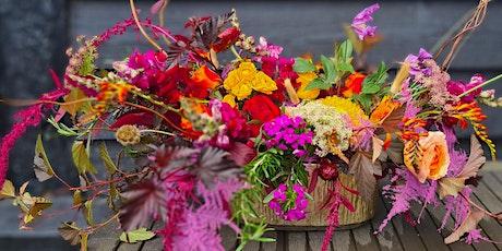 Autumnal vase arrangement tickets