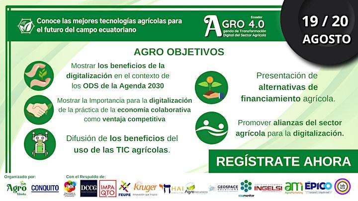 AGRO 4.0 ¨ Agenda de Transformación Digital del Sector Agrícola¨ Ecuador image