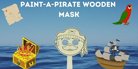 Paint-a-Wooden Mask! (All Ages) - PIRATE!! tickets
