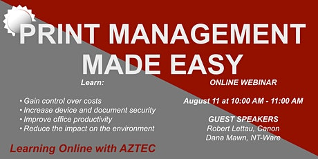 Print Management Made Easy...reduce your costs and secure your documents. tickets
