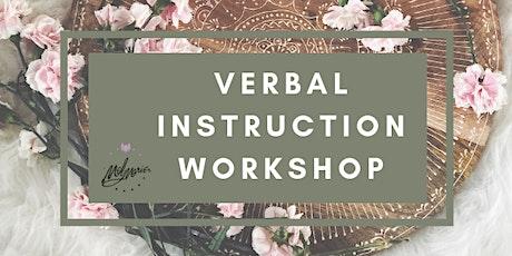 Verbal Instruction Workshop tickets