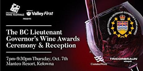 BC Lieutenant Governor's Wine Awards Ceremony & Reception tickets