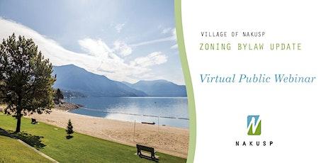 Village of Nakusp Zoning Bylaw Update Webinar tickets