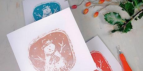 Creative Class - Linocut & Print Chrismas Cards - Childwall Liverpool - £35 tickets