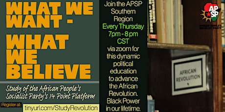 What We Want - What We Believe: Revolutionary Studies tickets