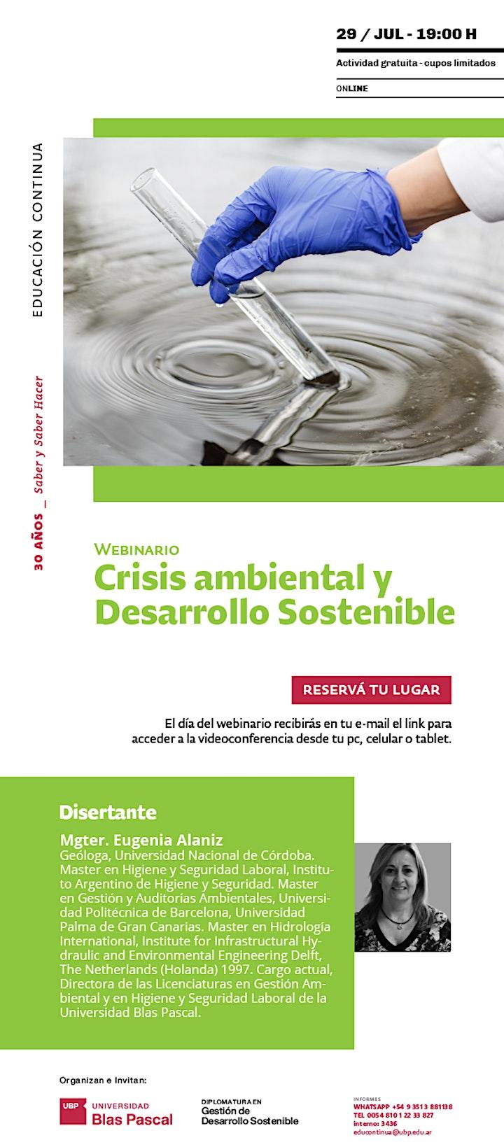 Imagen de Webinario> Crisis ambiental y desarrollo sostenible