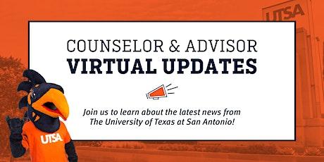 2021 UTSA Counselor and Advisor Virtual Updates ingressos