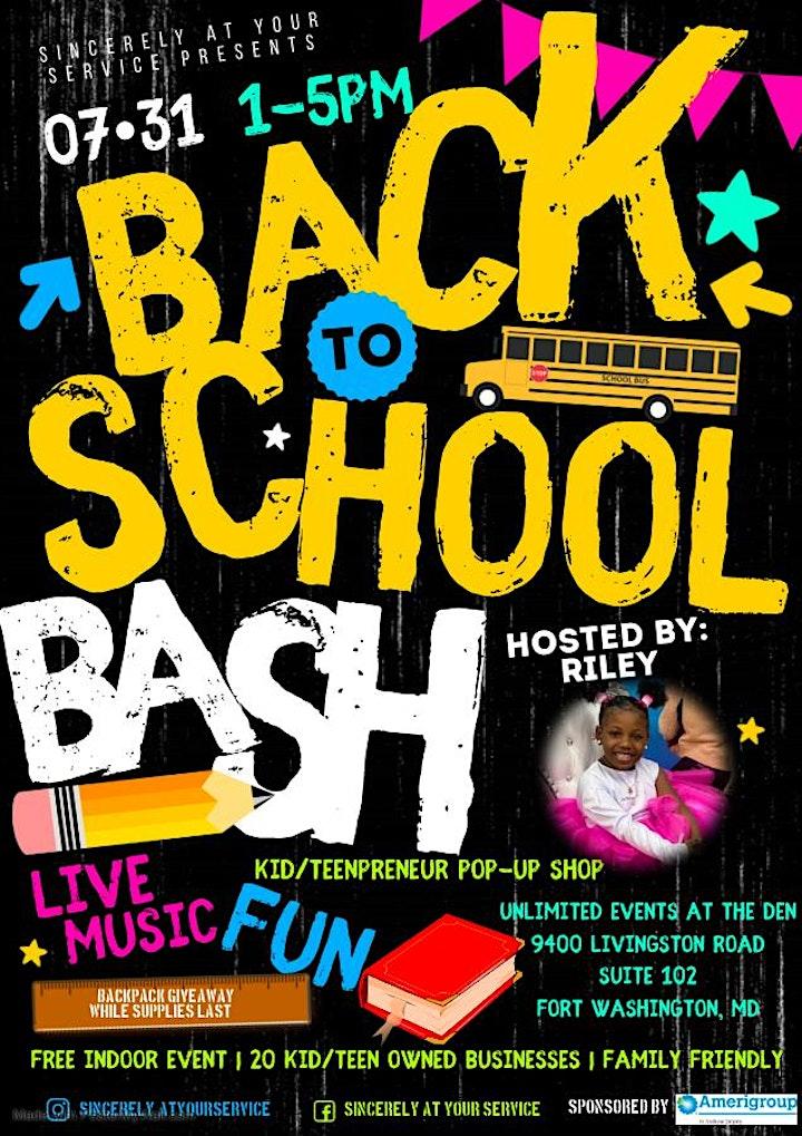 Back To School Bash Kid/Teenpreneur Pop-Up Shop image